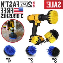 3 Set Tile Grout Power Scrubber Cleaning Drill Brush Combo S