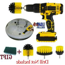 Drill Brush Set Power Scrubber Brushes Cleaner for Car Carpe