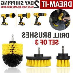 Drill Brush Set Power Scrubber Brushes Cleaner for Car Carpe