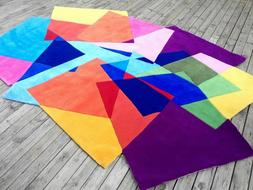 Handmade Shaped Rug Carpet Colorful For Living Room Coffee T