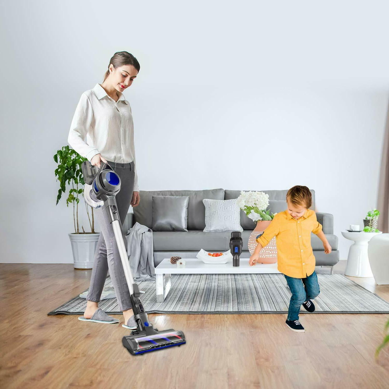 MOOSOO XL-618 Cordless Vacuum 10Kpa Stick Vacuum Carpet