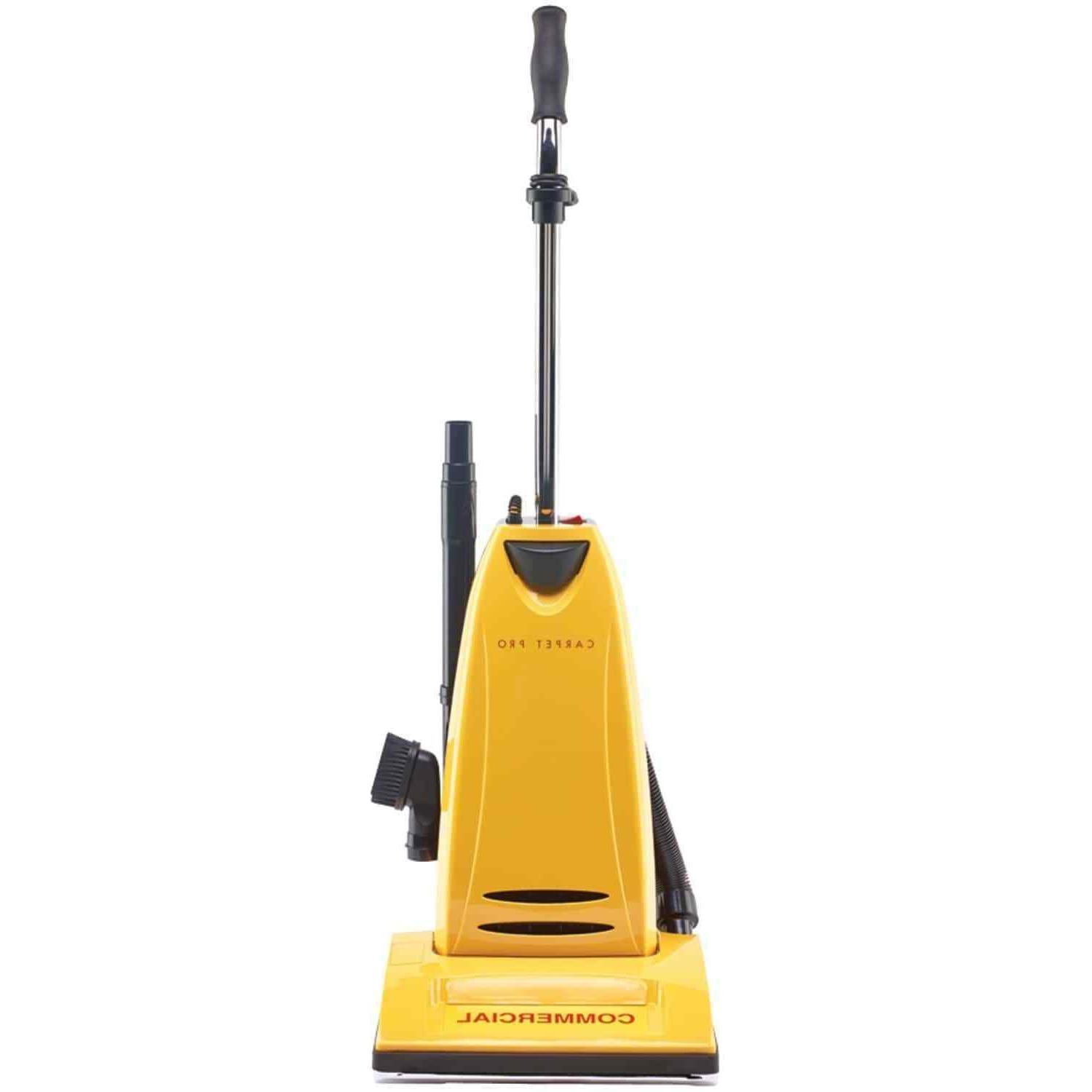 heavy duty commercial upright vacuum with onboard