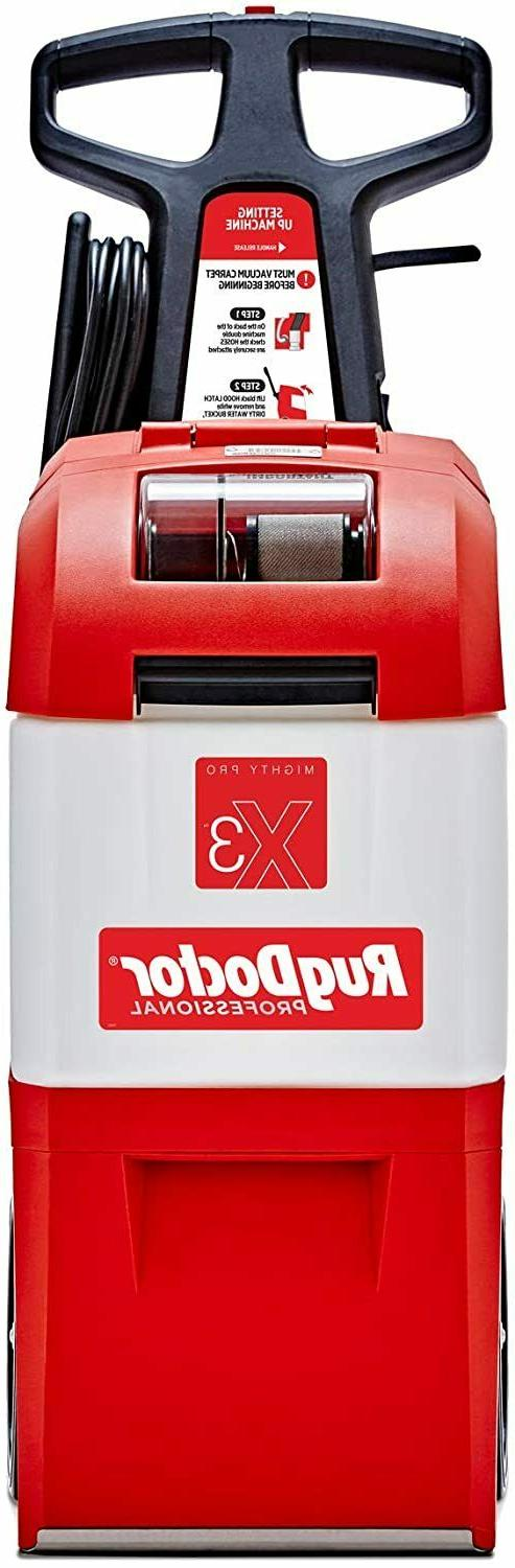 NEW Rug X3 Cleaner, Large Red Pro Pack