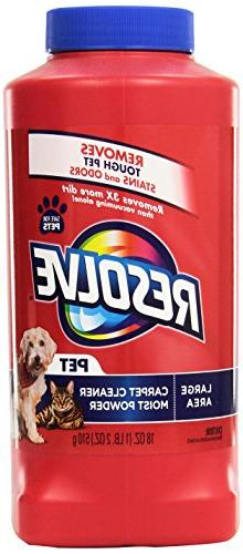 Resolve Pet Expert Cleaner Dirt and Odors - Removes Pet Hair,