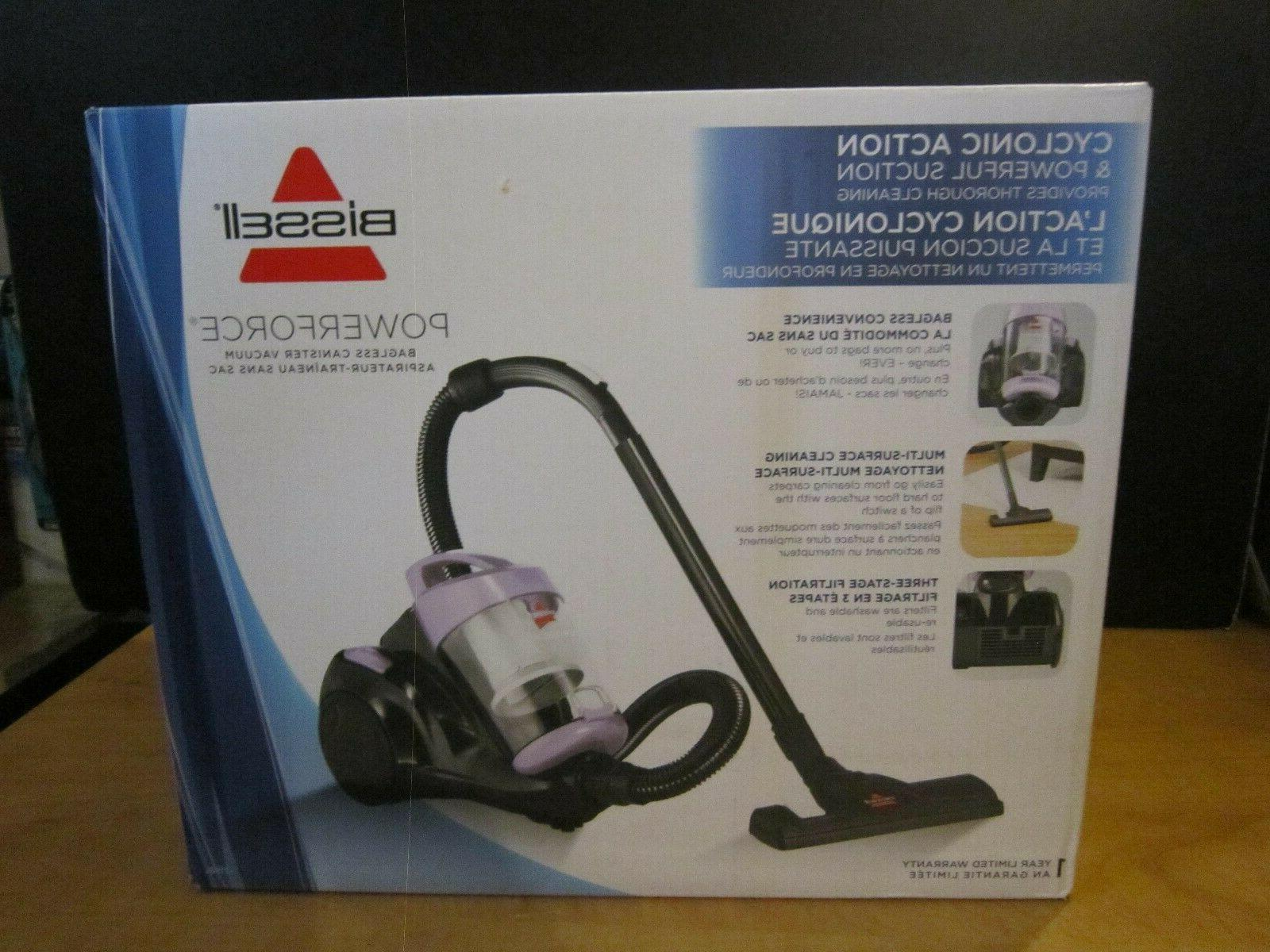 BISSELL PowerForce Bagless Cannister Vacuum Color-BRAND