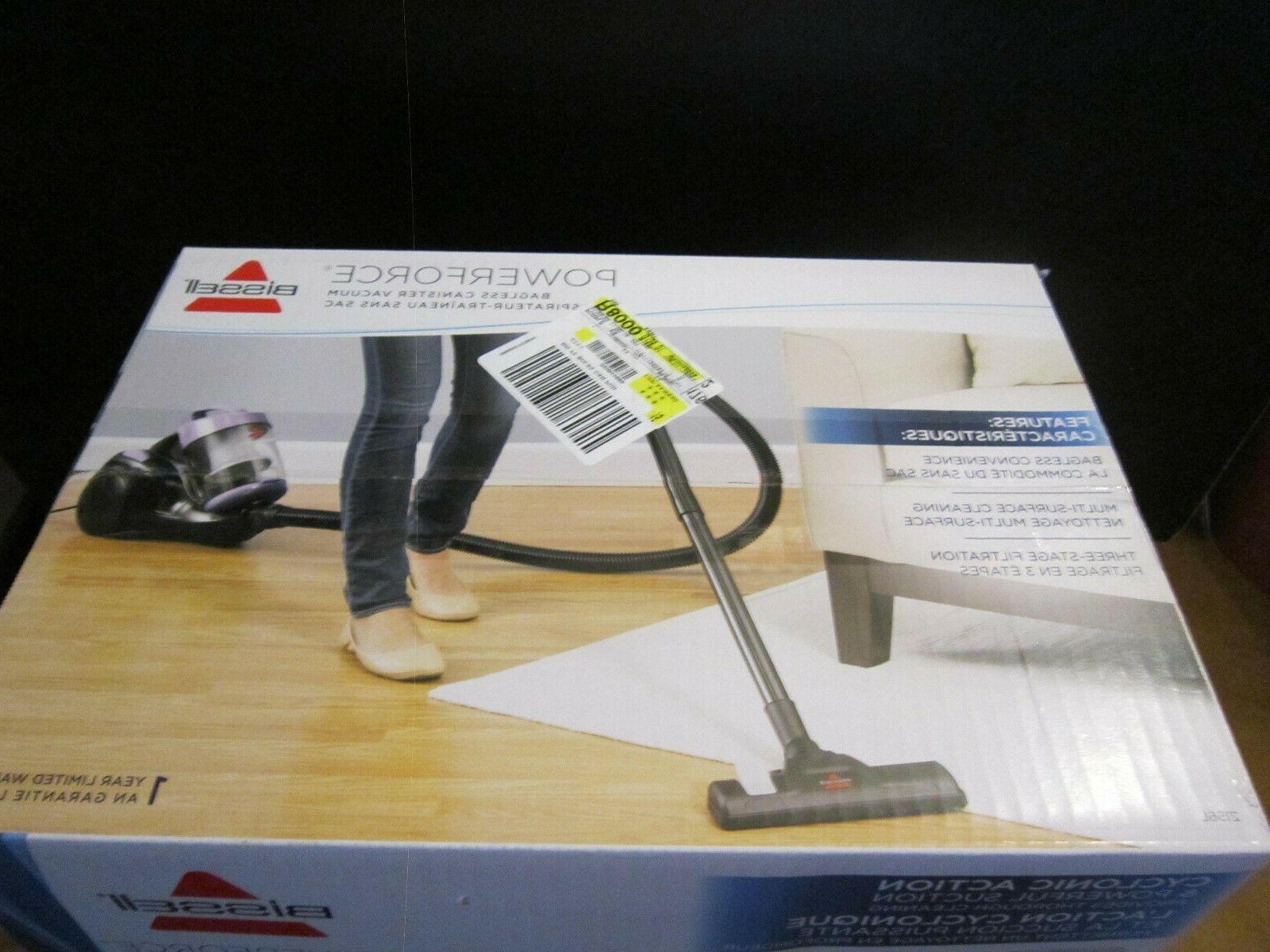 BISSELL PowerForce Bagless Cannister Vacuum Cleaner Color-BRAND NEW