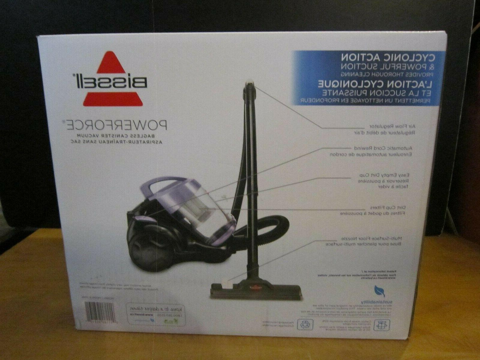 BISSELL Bagless Cannister Vacuum Cleaner Light Purple Color-BRAND