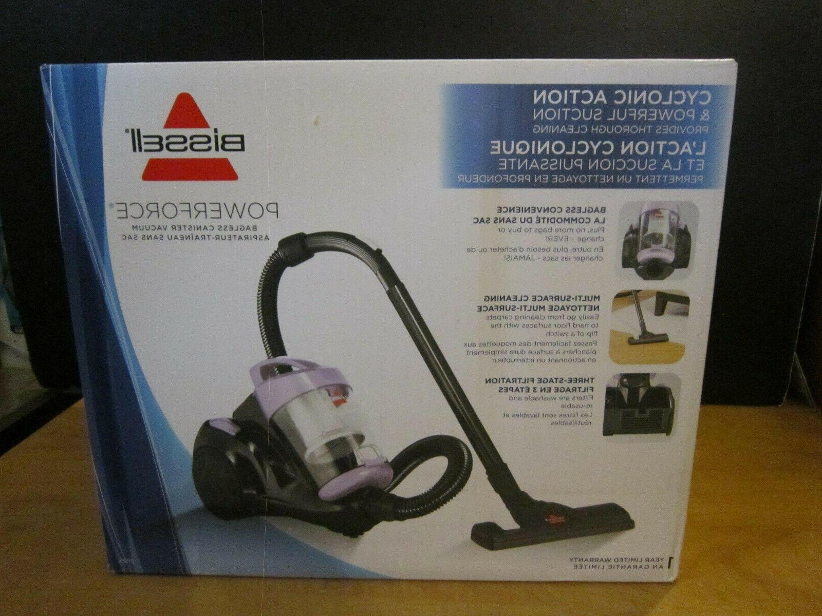 powerforce bagless cannister vacuum cleaner light purple