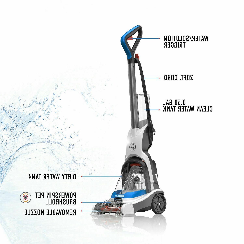 Steam Vacuum Carpet Cleaner Pet Shampooer Upright Lightweight Machine
