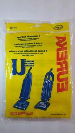Eureka Style U Single Wall Vacuum Bags - 3 Pack